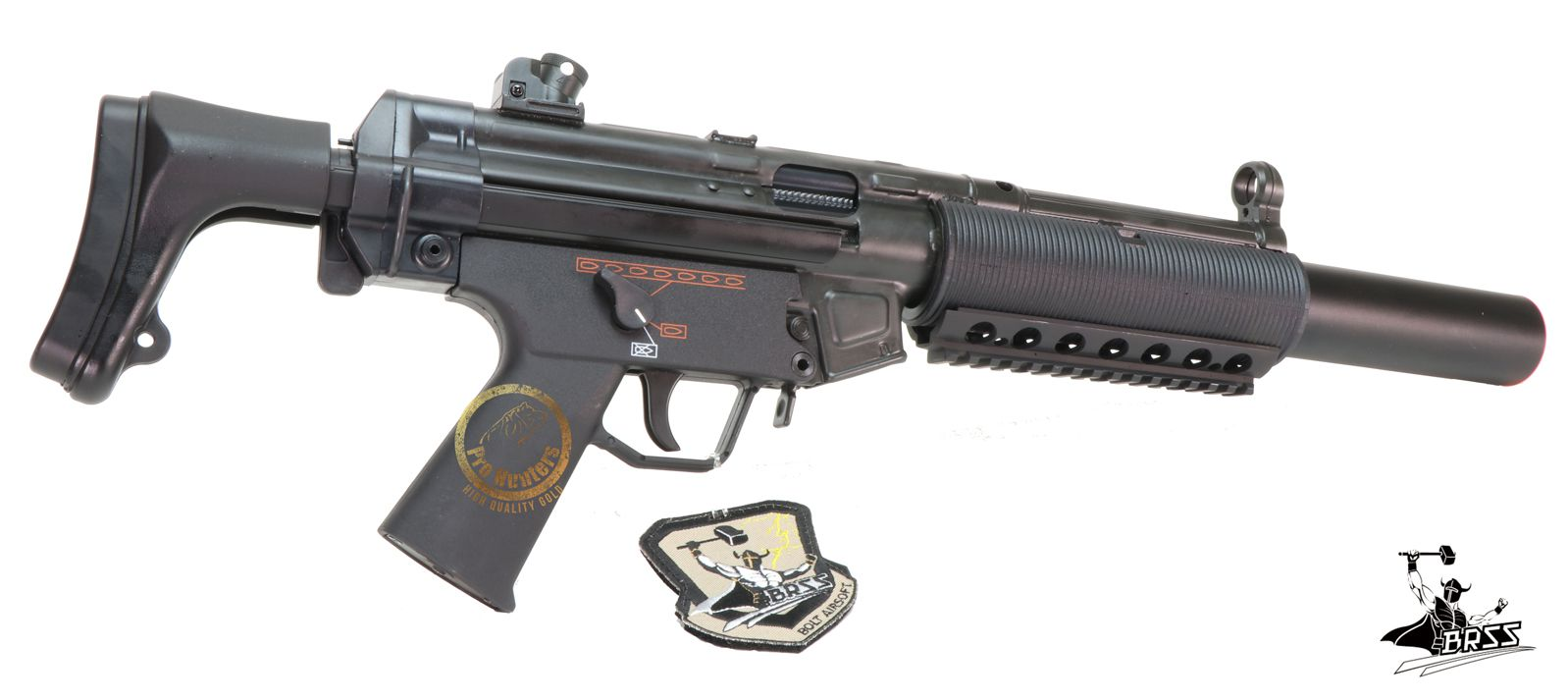 Rifle Airsoft MP5 BOLT SWAT SD6 -Full Metal - Blowback & Recoil System