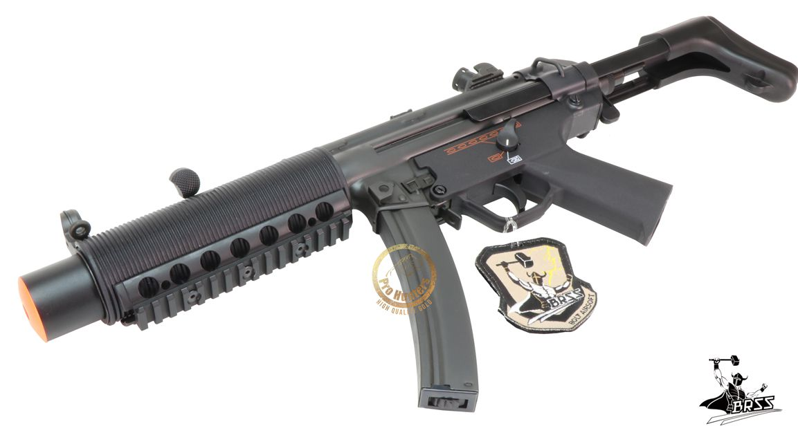 Rifle Airsoft MP5 BOLT SWAT SD6 SHORTY - Full Metal - Blowback & Recoil System