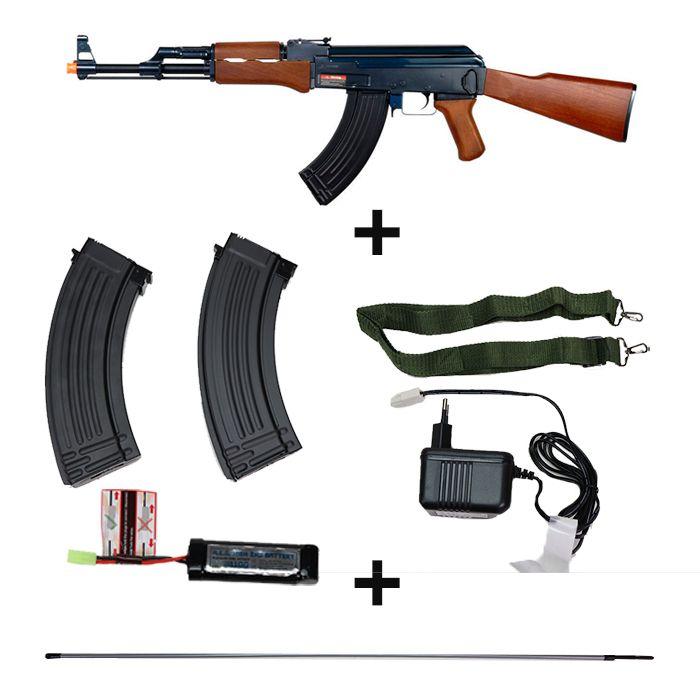 Rifle de Airsoft AK47 Kalashnikov - Cybergun - FRETE GRÁTIS