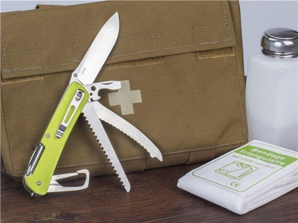 Ruike Knife - LD43 - Canivete Multifuncional - Yellow- Green