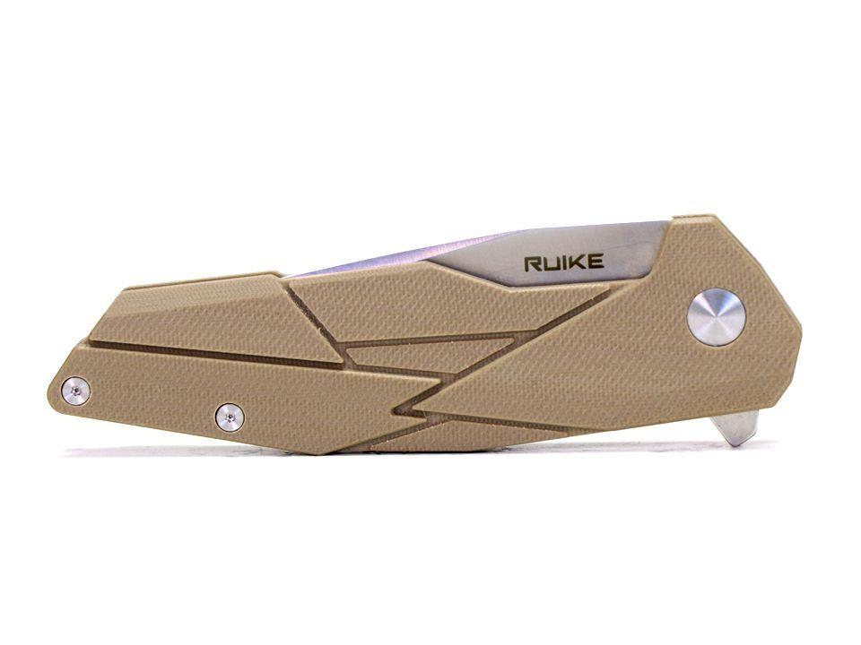 Ruike Knife - P138 - Canivete - Com Rolamento De Esferas E Trava De Segurança - Desert Sand