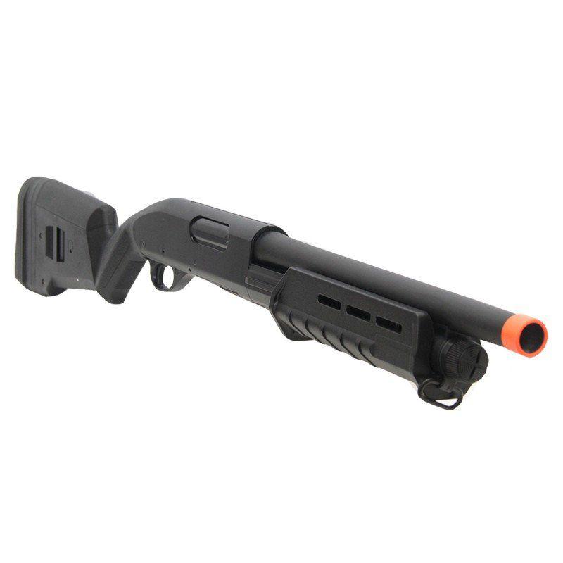 Shotgun De Airsoft Spring  CYMA  CM355 Trishot Curta - Black