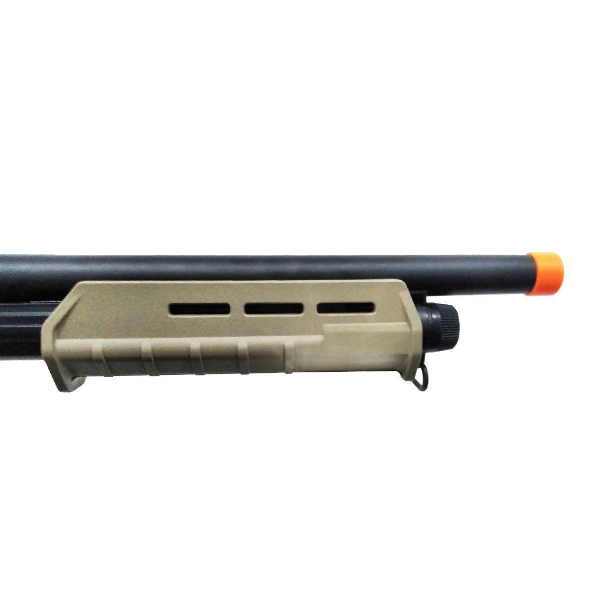 Shotgun de Airsoft Spring CYMA CM355 Trishot Curta - Tan