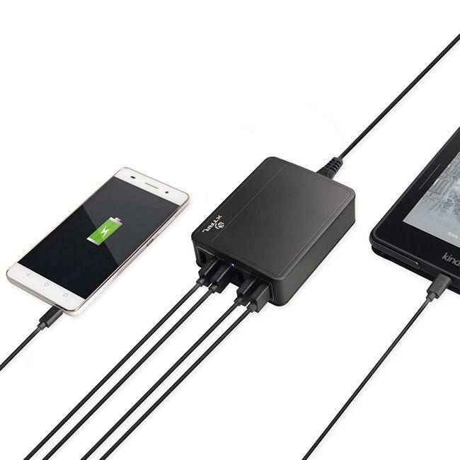 Carregador De Baterias Modelo Six-U - Slot USB 6 entradas - Xtar
