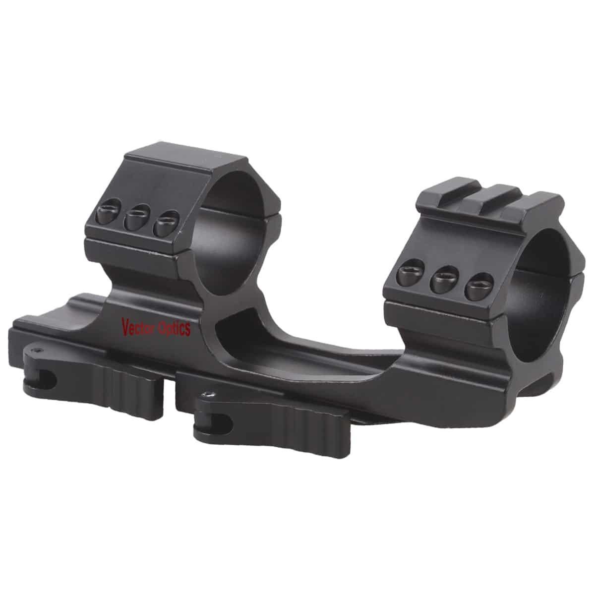 Suporte para luneta Vector Optics 30mm Quick Release Picatinny perfil alto