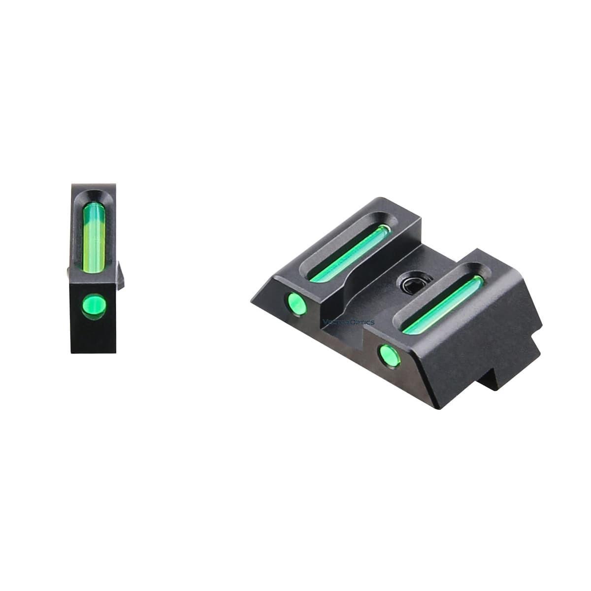 Alça e massa LA de fibra óptica para pistolas