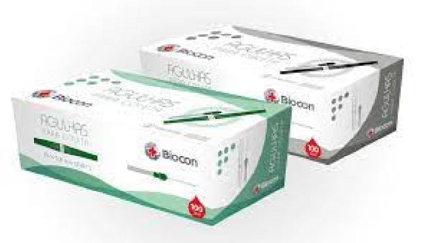 AGULHA A VACUO - BIOCON 25mmx0,8mm - caixa com 100unid