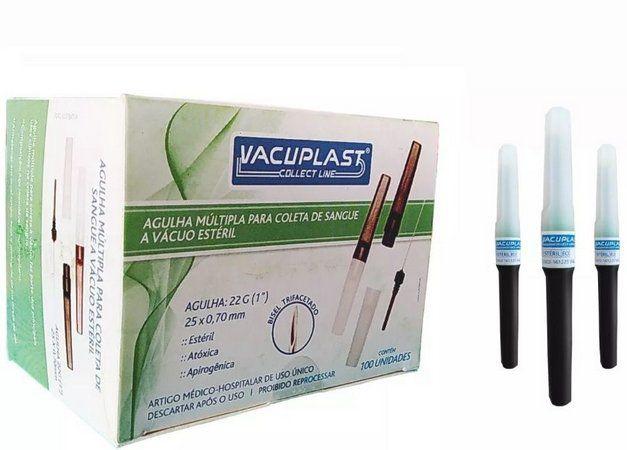 AGULHA A VACUO VACUPLAST medida:22g (25mmx0,7mm)