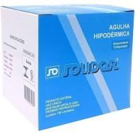 AGULHA HIPODERMICA 13X4,5 C/100 SOLIDOR
