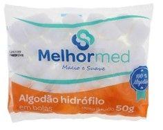 ALGODÃO BOLAS 50G MELHORMED