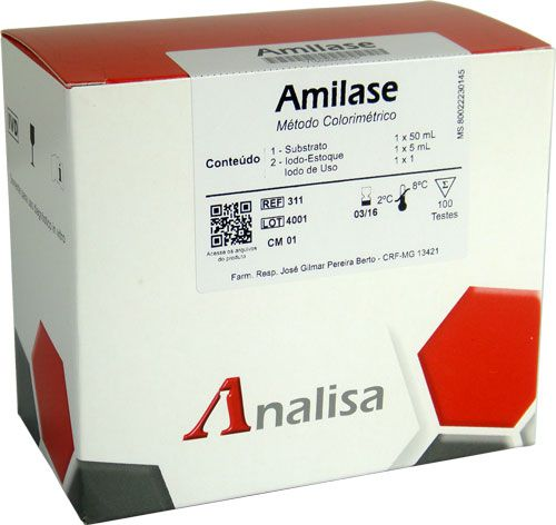 AMILASE COLORIMETRICA 50 mL - GOLDANALISA