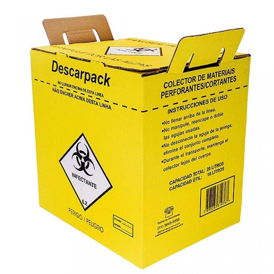 CAIXA COLETORA 1,5L C/ Descartador agulha -DESCARPACK