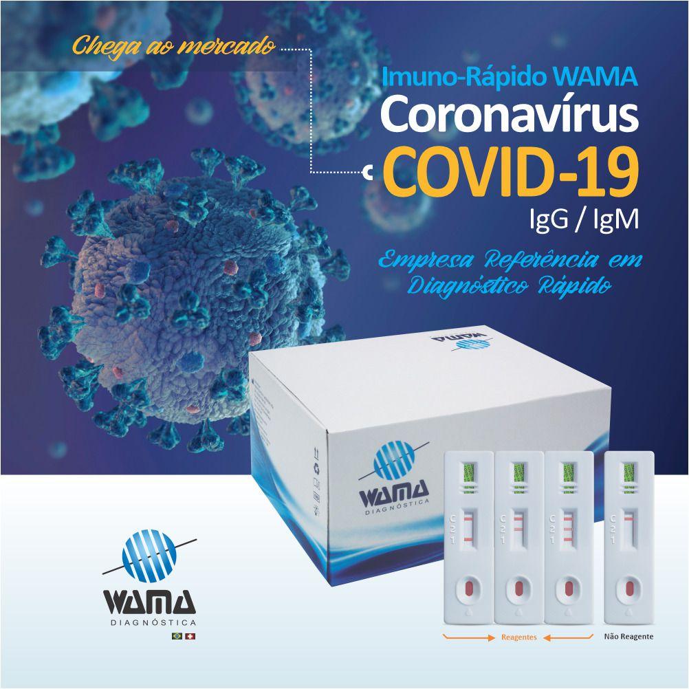 COVID TESTES RAPIDO IGG / IGM C/20 TESTES WAMA