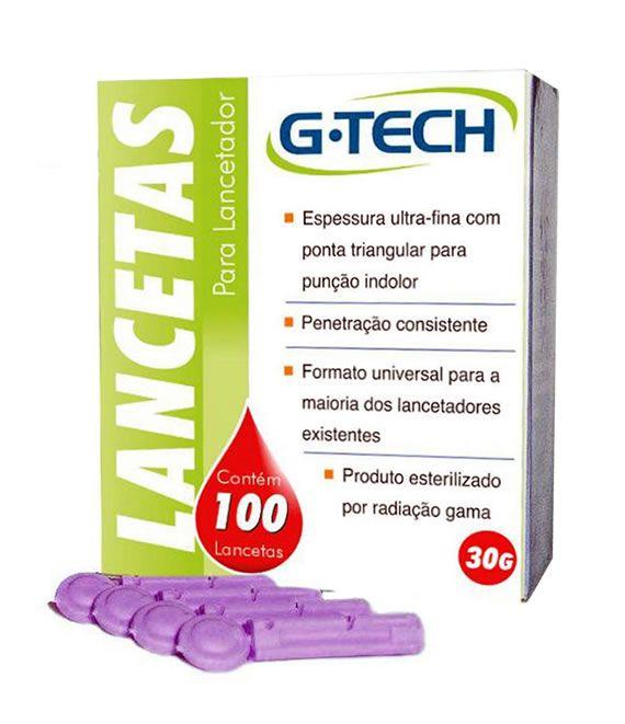 LANCETA PARA LANCETADOR 28G CX C/100UNID