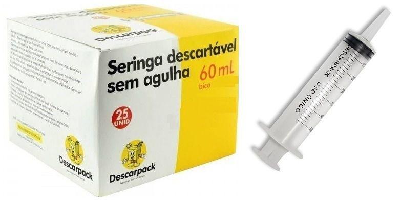 SERINGA BICO CATETER 60ML - DESCARPACK
