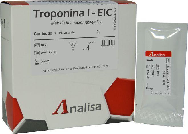 TROPONINA I  20 TESTES - GOLDANALISA