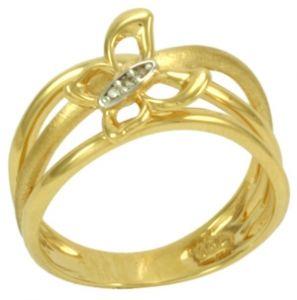 Anel em Ouro Amarelo com Borboletas de Diamantes  - Dumont Online - Joias e Relógios