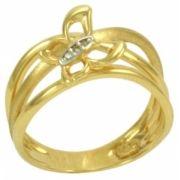 Anel em Ouro Amarelo com Borboletas de Diamantes