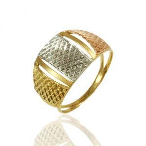 Anel em Ouro Amarelo, Branco e Rose - Dumont Online - Joias e Relógios a64ae6ee4f