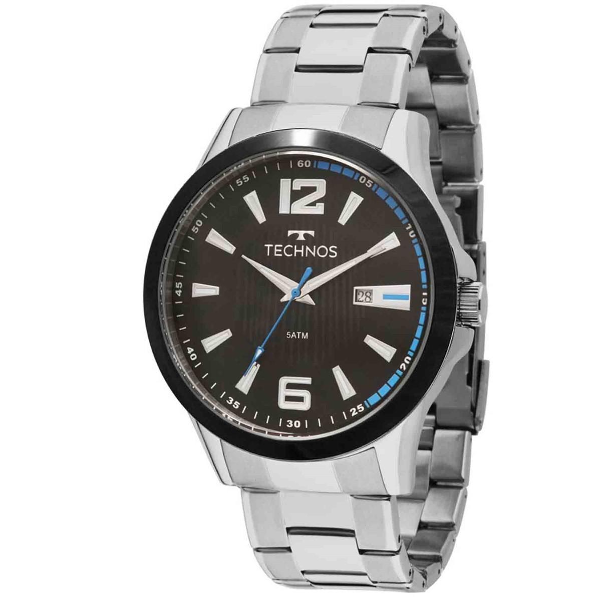 Relógio Technos Masculino - 2115KNV/1A  - Dumont Online - Joias e Relógios