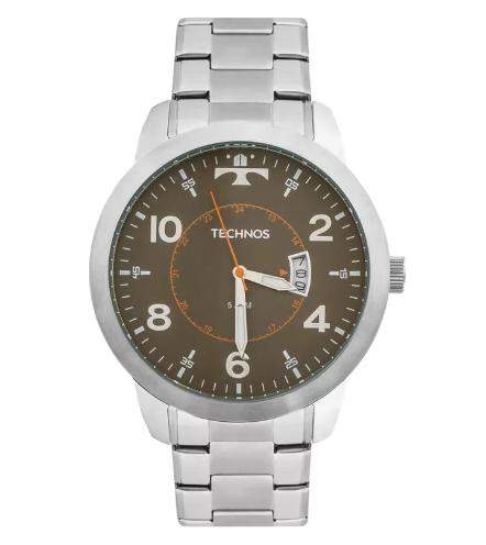Relógio Technos ReMasculino - 2115KTM/1C Prata  - Dumont Online - Joias e Relógios