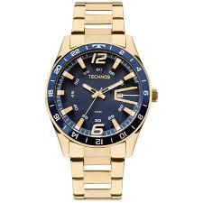 Relógio Technos Masculino Dourado Performance Racer - 2115LAJ/4A  - Dumont Online - Joias e Relógios