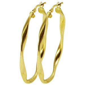Brinco Argola Oval Grande Ouro Amarelo  - Dumont Online - Joias e Relógios