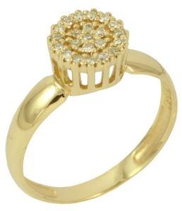 Anel Chuveiro Ouro Amarelo com Diamantes Relevo - Dumont Online - Joias e  Relógios de184d7c46