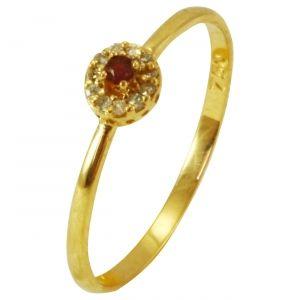 Anel Chuveiro em Ouro Amarelo com Brilhantes - Dumont Online - Joias e  Relógios d83cfa7432