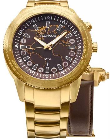 Relógio Technos Masculino - 753AC/4M  - Dumont Online - Joias e Relógios