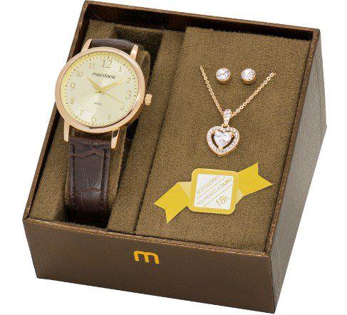 ec783eb23de Kit Relógio Feminino Mondaine - 83281LPMVDH1K3 - Dumont Online - Joias e  Relógios