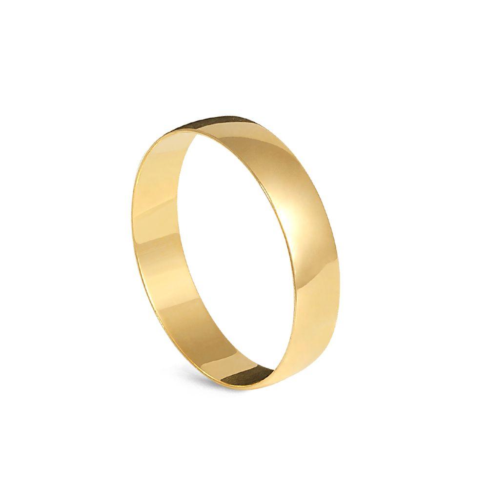 Aliança de Casamento em Ouro 18 KL - Unidade  - Dumont Online - Joias e Relógios