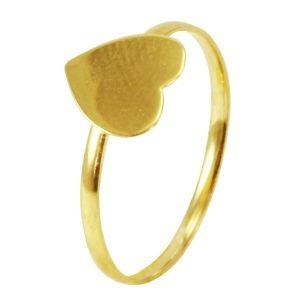 Anel em Ouro Amarelo de Coração  - Dumont Online - Joias e Relógios