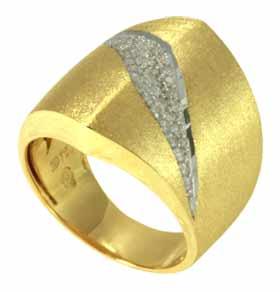 Anel em Ouro com Brilhantes   - Dumont Online - Joias e Relógios