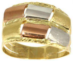Anel de Ouro de 3 Tons - Dumont Online - Joias e Relógios 79b71998e5