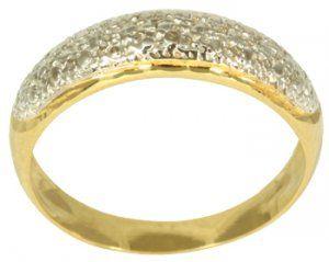 Anel em Ouro Amarelo com Ródio   - Dumont Online - Joias e Relógios