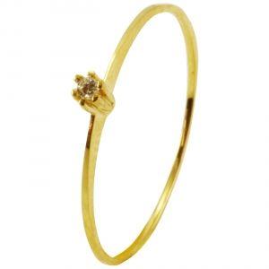3e28379186028 Anel Solitário em Ouro Amarelo com Brilhante