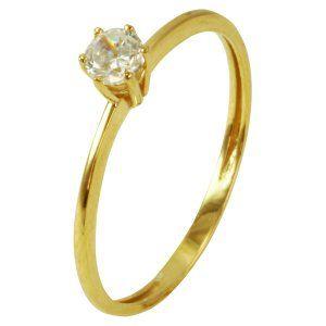 42d61a3a4e8ca Anel Solitário em Ouro com Zircônia - Dumont Online - Joias e Relógios