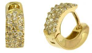 Brinco de Argola em Ouro Amarelo ou Branco com Diamantes   - Dumont Online - Joias e Relógios