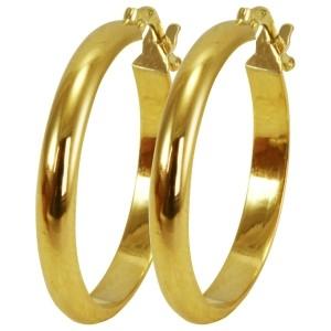 e56796ecd9dc2 Brinco de Argola em Ouro - Dumont Online - Joias e Relógios