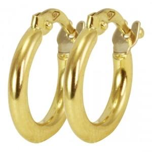 de508ada2b4ff Brinco Argolinha em Ouro Amarelo 18kl - Dumont Online - Joias e Relógios