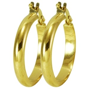 48e641eb86b06 Brinco em Ouro de Argola - Dumont Online - Joias e Relógios