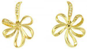 0612cbef30c15 Brinco de Ouro Amarelo com Diamantes - Dumont Online - Joias e Relógios