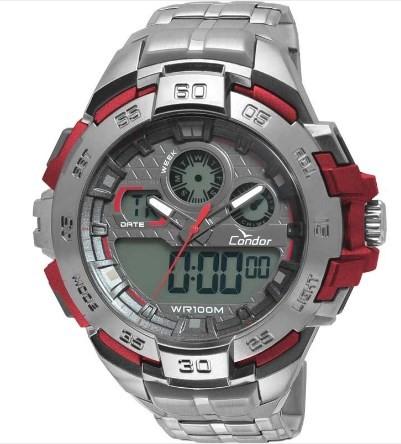 Relógio Condor Masculino - CO1154BR/3R  - Dumont Online - Joias e Relógios