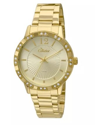 Relógio Condor Eterna Dourado Feminino - CO2035KMN/4D  - Dumont Online - Joias e Relógios