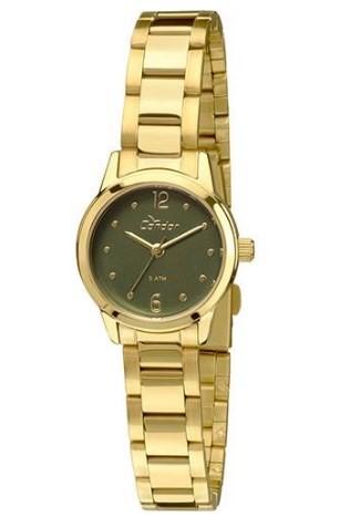 Relógio Condor Eterna Mini Dourado - CKNDO2035/4V  - Dumont Online - Joias e Relógios