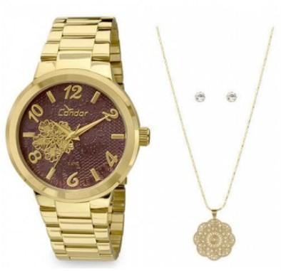 Relógio Condor Feminino - CO2036DB/K4R  - Dumont Online - Joias e Relógios