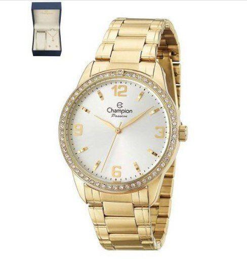 Kit Relógio Champion Feminino - CN27269W  - Dumont Online - Joias e Relógios
