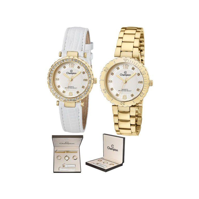 c86569c1d Kit Relógio Feminino Champion - CN29203H - Dumont Online - Joias e Relógios