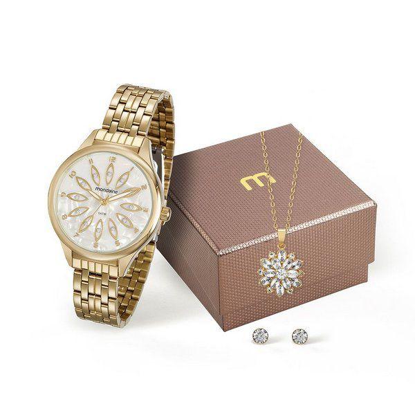 b885f1e8cbd Kit Relógio Feminino Mondaine - 99166LPMVDE2K1 - Dumont Online - Joias e  Relógios